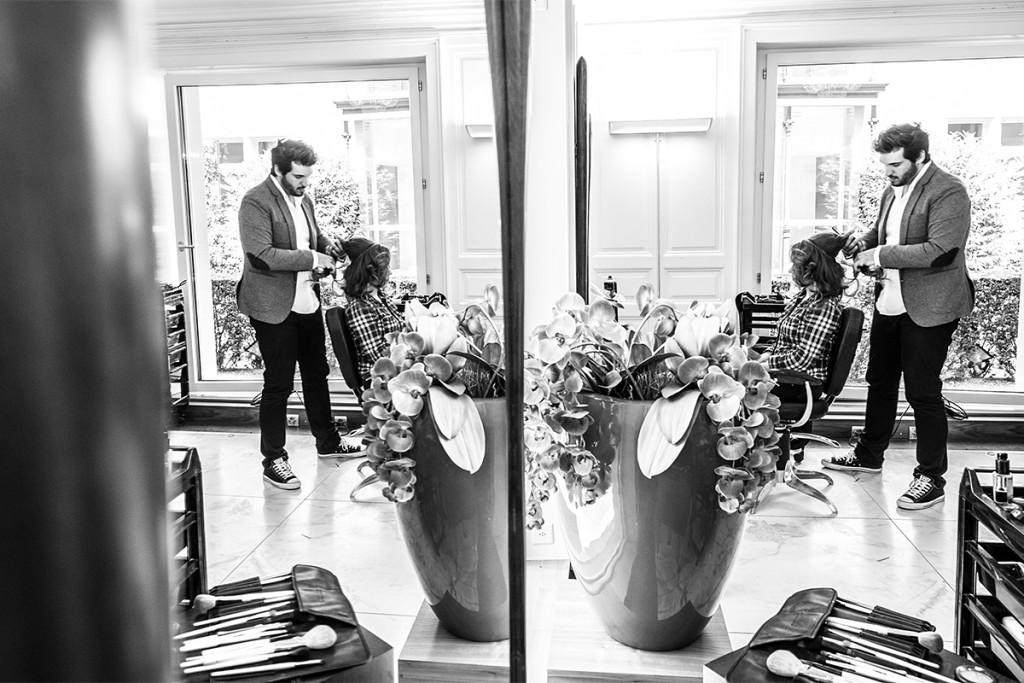 Brautmakeup Getting ready Villa Valentino Zuerich Hochzeitsfotografie Berlin