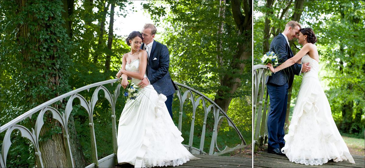 Hochzeitsportraits Brücke Schloss Steinhoefel