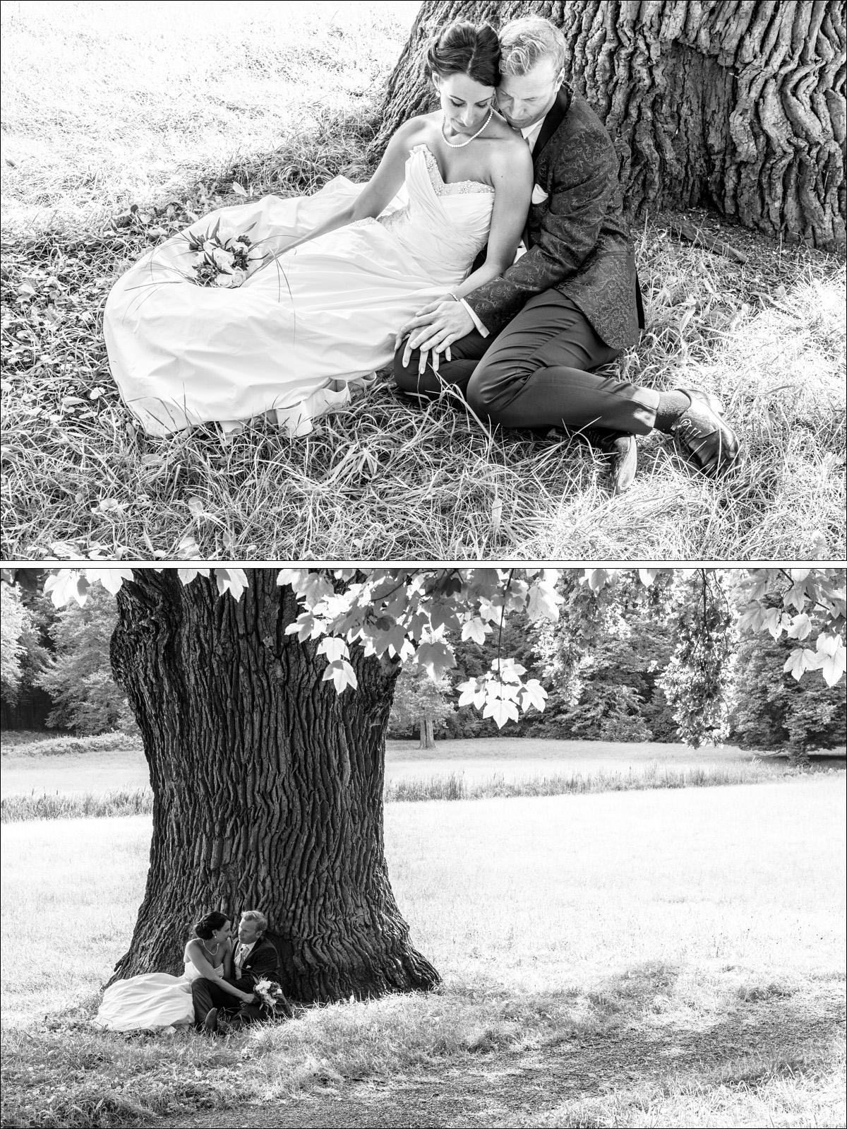 Hochzeitsportraits romantisch Schwarz weiss Hochzeitsfotograf Berlin